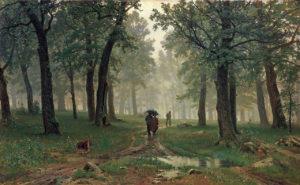 """Картина И. Шишкина """"Дождь в дубовом лесу"""""""