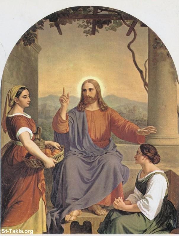 Христос с Марфой и Марией