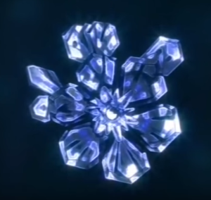 Кристаллы воды под микроскопом